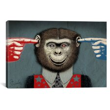 Monkey Canvas Wall Art by Anthony Freda