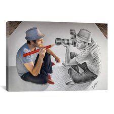 'Pencil with Camera 73 Illustrator vs Photographer' by Ben Heine Photographic Print on Canvas
