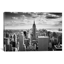 New York City Downtown Canvas Wall Art by Nina Papiorek
