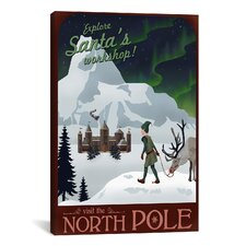 North Pole Christmas Canvas Wall Art by Steve Thomas