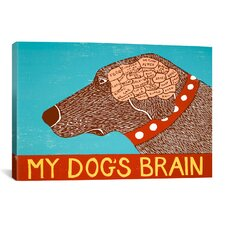 My Dogs Brain Choc Canvas Wall Art by Stephen Huneck