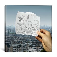 'Pencil with Camera 10 - Angry Dino' by Ben Heine Photographic Print on Canvas
