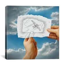'Pencil with Camera 20 - Flying Man' by Ben Heine Photographic Print on Canvas