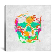 Dead Color Skull Print by Maximilian San Graphic Art on Canvas