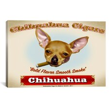 Chihuahua Cigar Canvas Print Wall Art