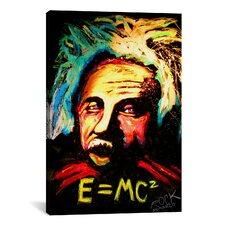 Einstein Signed Canvas Print Wall Art