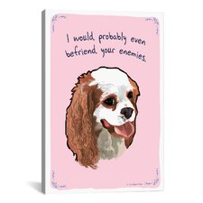 Friendly King Charles Canvas Print Wall Art