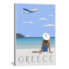 Greece Canvas Print Wall Art