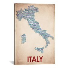 American Flat Italy on Graphic Art on Canvas