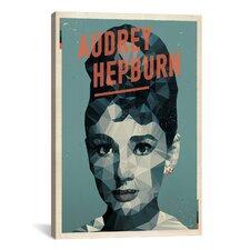 American Flat Audrey Hepburn Graphic Art on Canvas