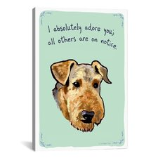 Tiny Confessions Airedale Canvas Print Wall Art