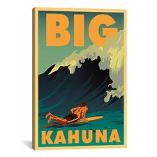 American Flat Big Kahuna Painting Print on Canvas