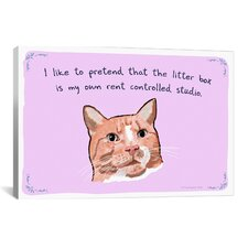 Tiny Confessions American Shorthair Apartment Canvas Print Wall Art
