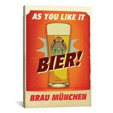 American Flat Bier Brau Mžnchen Graphic Art on Canvas