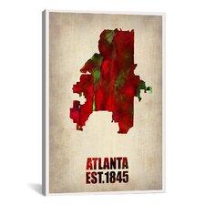 Naxart Atlanta Watercolor Map by Naxart Graphic Art on Canvas