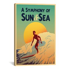 American Flat A Symphony Of Sun and Sea Painting Print on Canvas