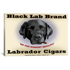 Brian Rubenacker Black Lab Cigar Canvas Print Wall Art