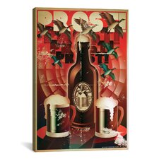 American Flat Prost! Graphic Art on Canvas