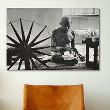Political Mahatma Gandhi Photographic Print on Canvas