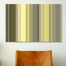 Striped Art Olive Oil Green Graphic Art fon Canvas