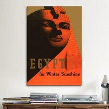 Egypt for Winter Sunshine Vintage Advertisement on Canvas