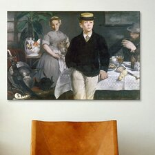 'Luncheon in the Studio' by Edouard Manet Painting Print on Canvas