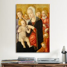 'Madonna with Child and Two Angels' by Matteo Di Giovanni Painting Print on Canvas