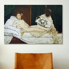 'Olympia' by Edouard Manet Painting Print on Canvas