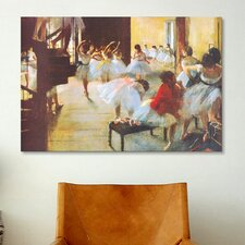 Ecole De Danse (Dance School) by Edgar Degas Painting Print on Canvas