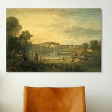 'Pope's Villa at Twickenham' by Jospeh William Turner Painting Print on Canvas