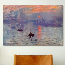 'Sunrise Impression' by Claude Monet Painting Print on Canvas