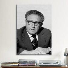 Political Henry Kissinger Portrait Photographic Print on Canvas
