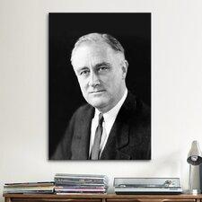 Political Franklin D. Roosevelt (FDR) Portrait Photographic Print on Canvas