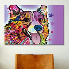 'Corgi' by Dean Russo Graphic Art on Canvas