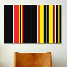Ferrari Badge Striped Graphic Art on Canvas