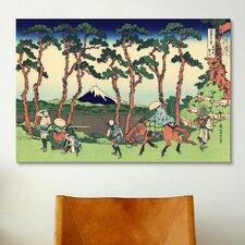 'Hodogaya on the Tokaido' by Katsushika Hokusai Painting Print on Canvas