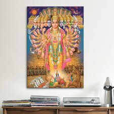 Hindu God Vishnu as Virat Swaroop Painting Print on Canvas