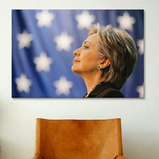 Political Hillary Clinton Portrait Photographic Print on Canvas