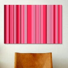 Candy Striped Graphic Art on Canvas