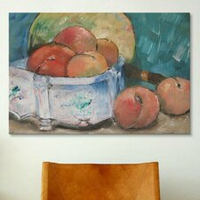 'Fruit Bowl' by Paul Cezanne Painting Print on Canvas