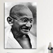 Political Gandhi Portrait Photographic Print on Canvas