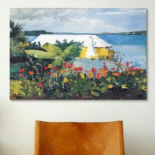 'Flower Garden and Bungalow, Bermuda 1899' by Winslow Homer Painting Print on Canvas