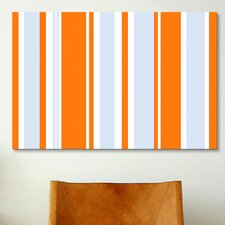 Striped Art Grand Prix Baby Graphic Art on Canvas