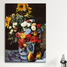 'Flowers in a Vase' by Pierre-Auguste Renoir Painting Print on Canvas