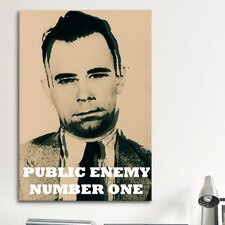 Mugshot John Dillinger (1903-1934); Public Enemy Number 1 - Gangster Graphic Art on Canvas