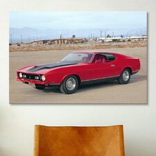 Cars and Motorcycles 1971 Mustang Mach 1 Photographic Print on Canvas