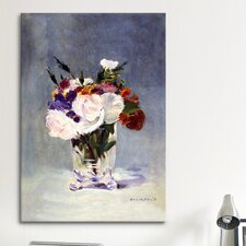 'Flowers in a Crystal Vase' by Edouard Manet Painting Print on Canvas