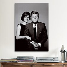 Political John and Jackie Kennedy Portrait Photographic Print on Canvas