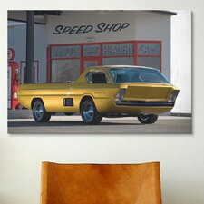 Cars and Motorcycles Dodge Pickup Deora 1966 Photographic Print on Canvas