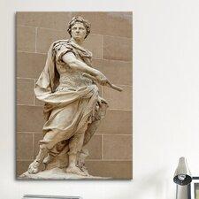 Political Julius Caesar Statue Photographic Print on Canvas